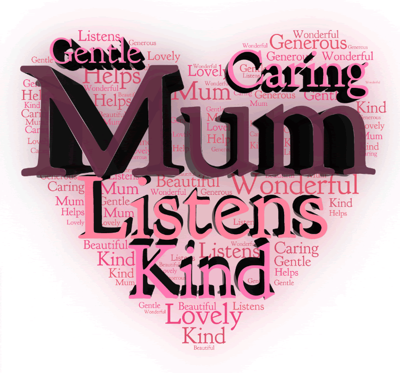 Mum word art in 3D... Ready Made