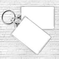2x Small Keyrings (image size 5x3.5cm)
